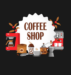 Modern icons for coffee shop and coffee house vector