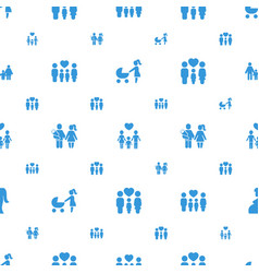 Mom icons pattern seamless white background vector