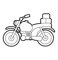 Motorcycle icon outline style vector image