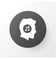 music lover icon symbol premium quality isolated vector image