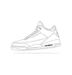 Nike air jordan 3 vector