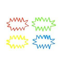 oil pastel colorful speech bubbles vector image vector image
