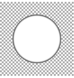 paper circle sticker vector image