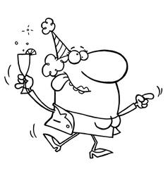 Party cartoon vector