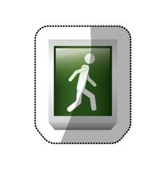 Pedestrian road sign vector