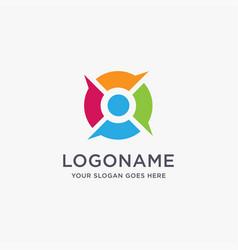 person and bubble talk logo icon template vector image