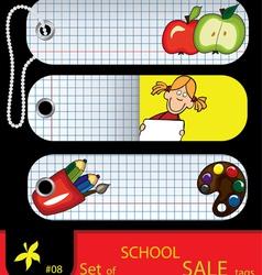 price tags school vector image