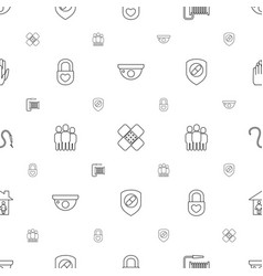 protection icons pattern seamless white background vector image