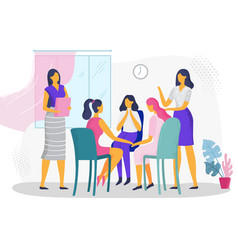 psychological therapy for women female vector image