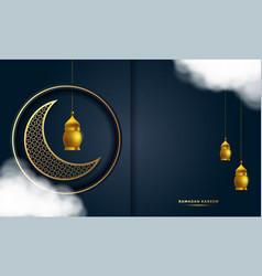 ramadan kareem greeting card background vector image