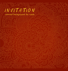 red oriental background for cards vector image vector image