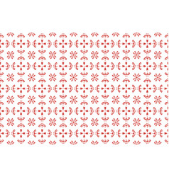 seamless ethnic red floral pattern of embroidery vector image