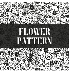 Seamless flower pattern in black and white style vector