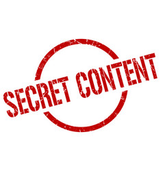 Secret content stamp vector
