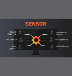 Sensor infographics design timeline concept vector