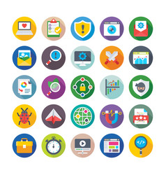 Seo and digital marketing icons 7 vector