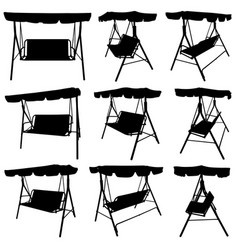 set of different garden swings vector image