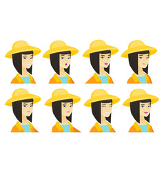 Set of farmer characters vector