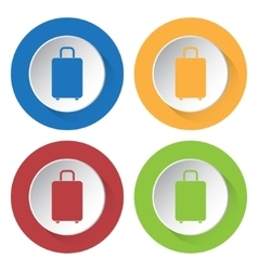 Set of four icons suitcase vector