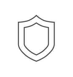 shield related thin line icon vector image