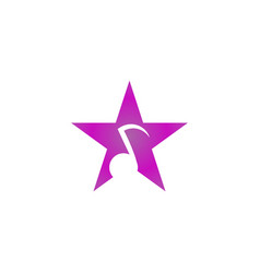 star note music logo and icon design vector image