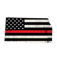 State kansas firefighter support flag vector
