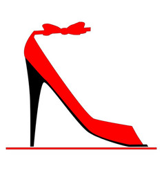 Stiletto fashion shoe vector