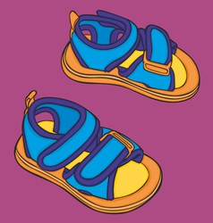 Summer kid shoes vector