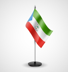 Table flag of Equatorial Guinea vector image