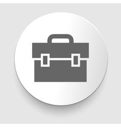 Transparent business briefcase icon vector