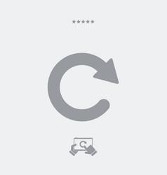 Updates single flat icon vector