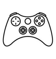 vintage gamepad icon outline style vector image