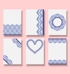 Wedding invitation templates set cover design vector