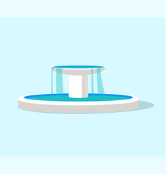 White fountain layout color vector