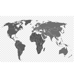 World map isolated on transparent background vector