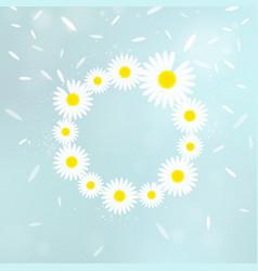 wreath of chamomiles vector image