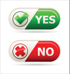 yes and no sign of product quality and choice vector image