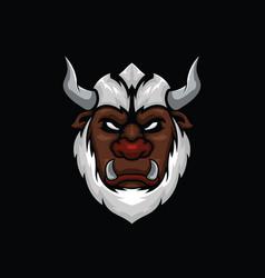 yeti monster head vector image