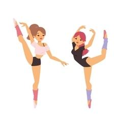 Ballerina dancer girl vector
