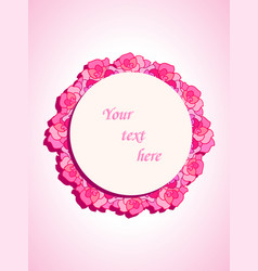 beautiful template with roses for cards vector image vector image