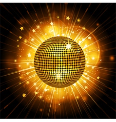 gold disco ball starburst vector image vector image