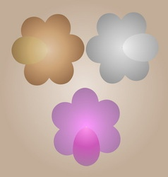 Gold silver and pink flowers from egg vector image vector image