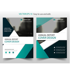 green black abstract triangle annual report vector image vector image