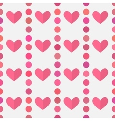 Hearts pink pattern vector image