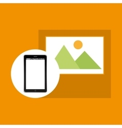 Picture mobile phone navigation vector