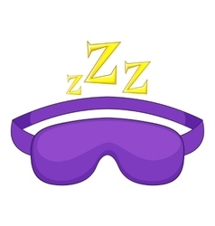 Sleeping mask icon cartoon style vector