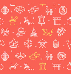 symbol of china pattern background vector image