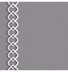 3d white border in arabic style vector image vector image