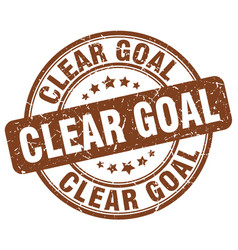 Clear goal brown grunge stamp vector
