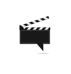 film tape like comic speech vector image